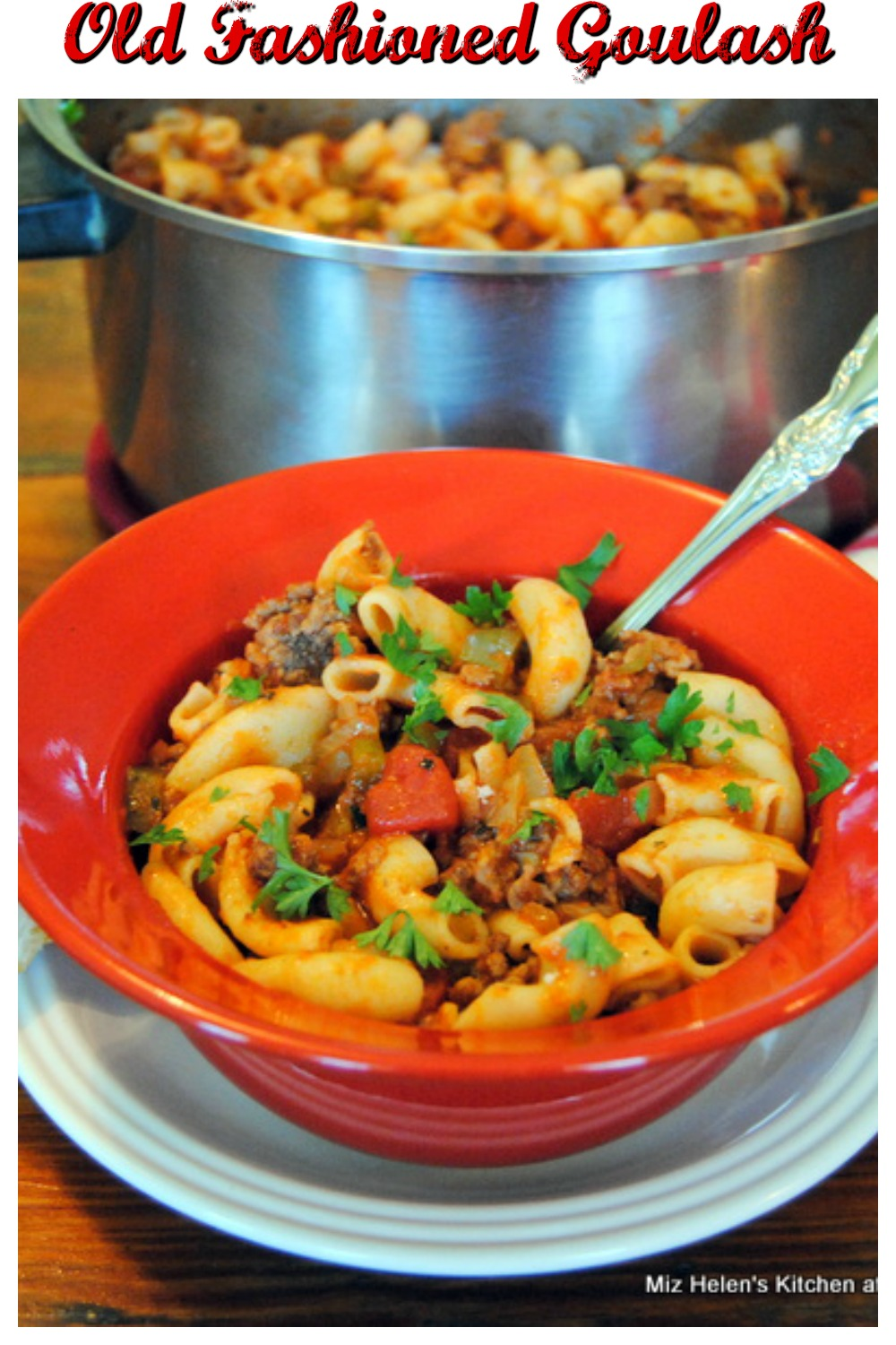 Old Fashioned One Pot Goulash