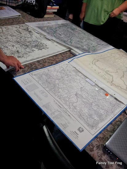 maps spread on table