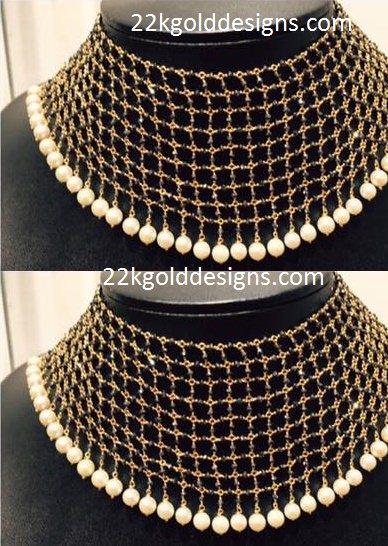 Contemporary Black Diamonds Choker