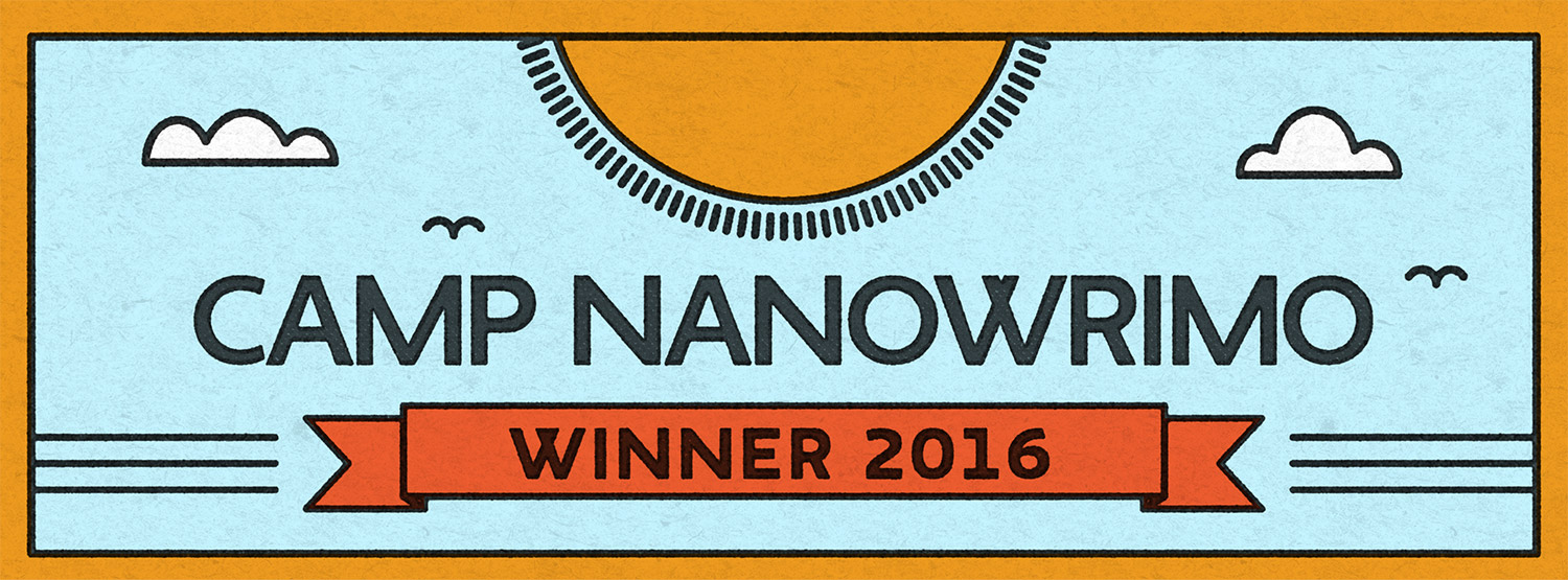 2-time CampNaNoWriMo WINNER 2016 !