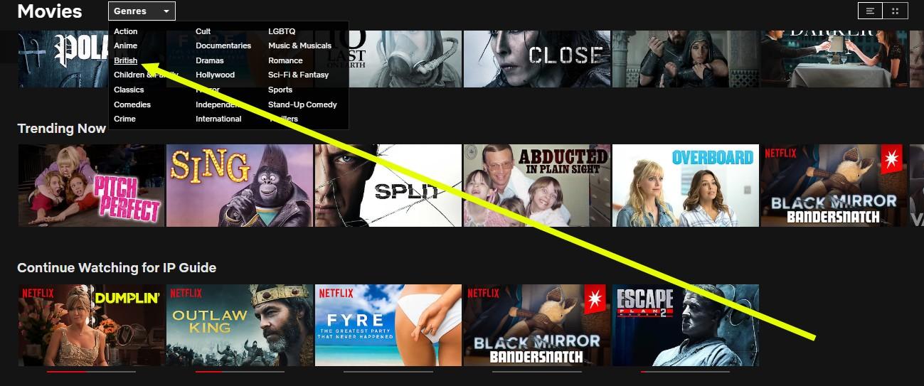 watching English Netflix with NordVPN