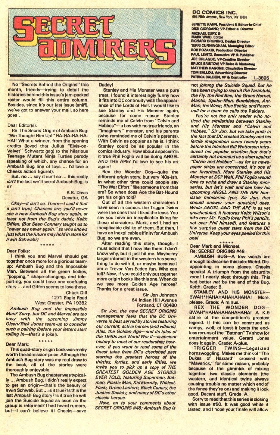 Read online Secret Origins (1986) comic -  Issue #50 - 97