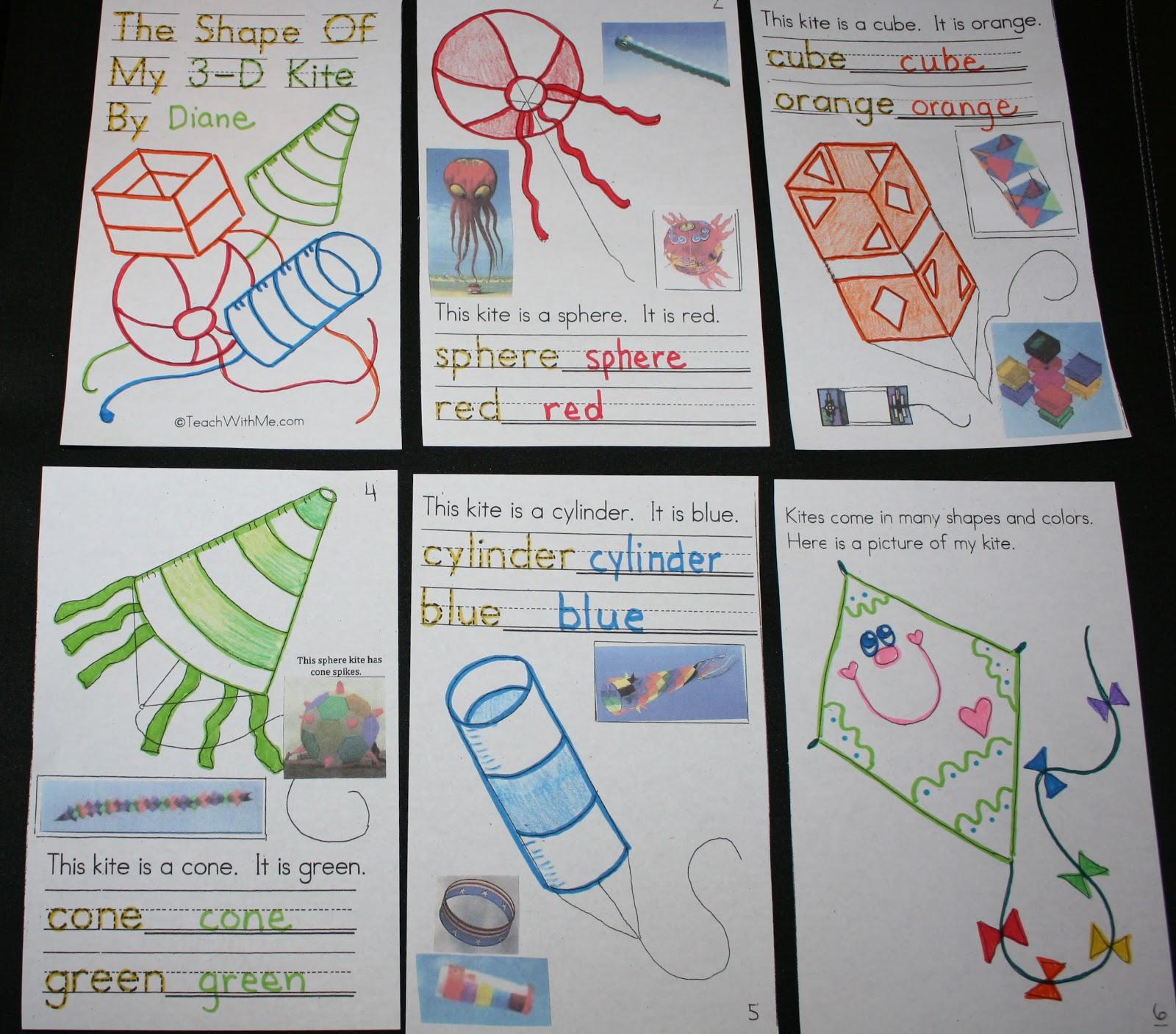 Classroom Freebies 3d Kite Booklet