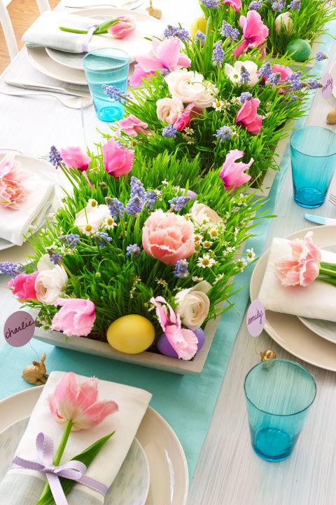 aranjament floral masa de paste