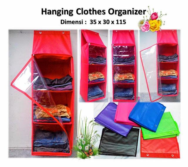 Rak Baju-Pakaian Gantung Plastik / Hanging Clothes Storage Cabinet Organizer (HCO)