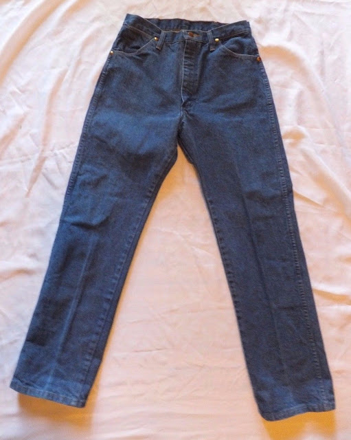 Womens/Juniors Vintage Wrangler Denim Blue Jeans ~Sz 11x30 ~ Straight Leg