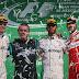 Lewis Hamilton prueba las mieles del podio mexicano tras conseguir la primera posición en el FORMULA 1 GRAN PREMIO DE MÉXICO 2016