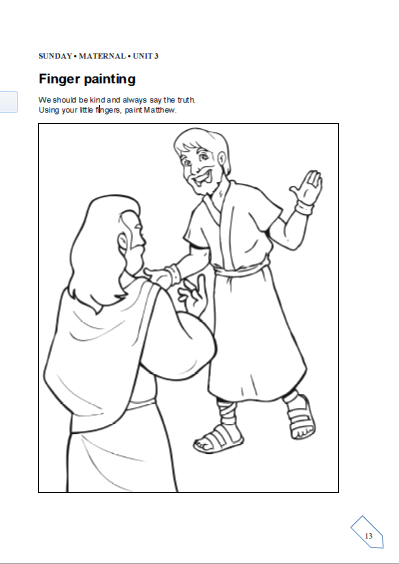 Matthew The Tax Collector Coloring Page Matthew The Tax Collector ... | 564x399