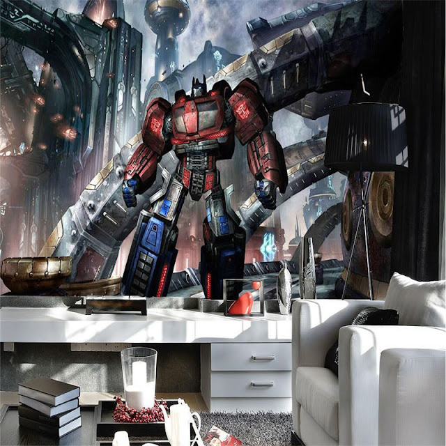 Transformers wall mural wallpaper for bedroom Transformers Wallpaper Optimus Prime Photo wallpaper 3D Wall Murals Boy Kid Interior Bedroom Room