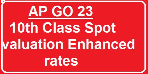 AP GO 23 10th Class Spot valuation Enhanced rates| SSC Public Examinations, March 2016 – Enhancement of Rates of Remuneration payable to the personnel for conducting SSC Examinations, Teachers attending for Spot Valuation duties and contingency charges – Orders – Issued./2016/03/ap-go-23-10th-class-spot-valuation-enhanced-rates.html