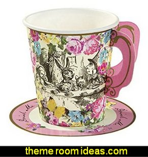 Alice Whimsical Party Cup and Saucers alice in wonderland party decorations