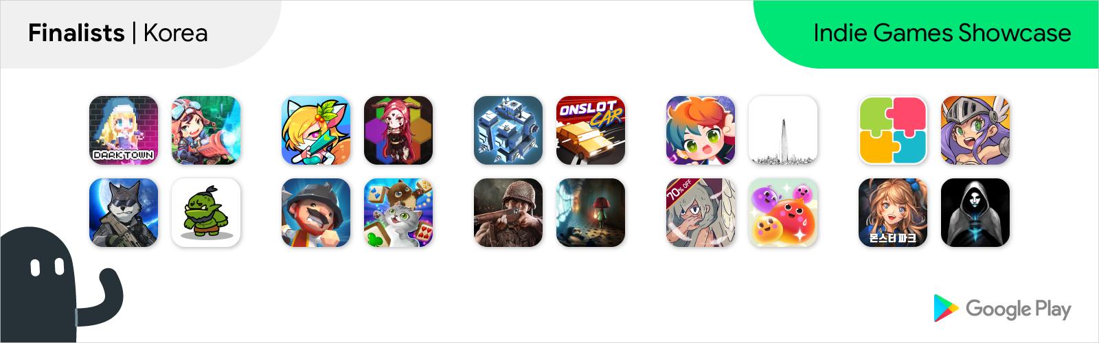 Südkorea Finalisten Logos für Indie Games Showcase
