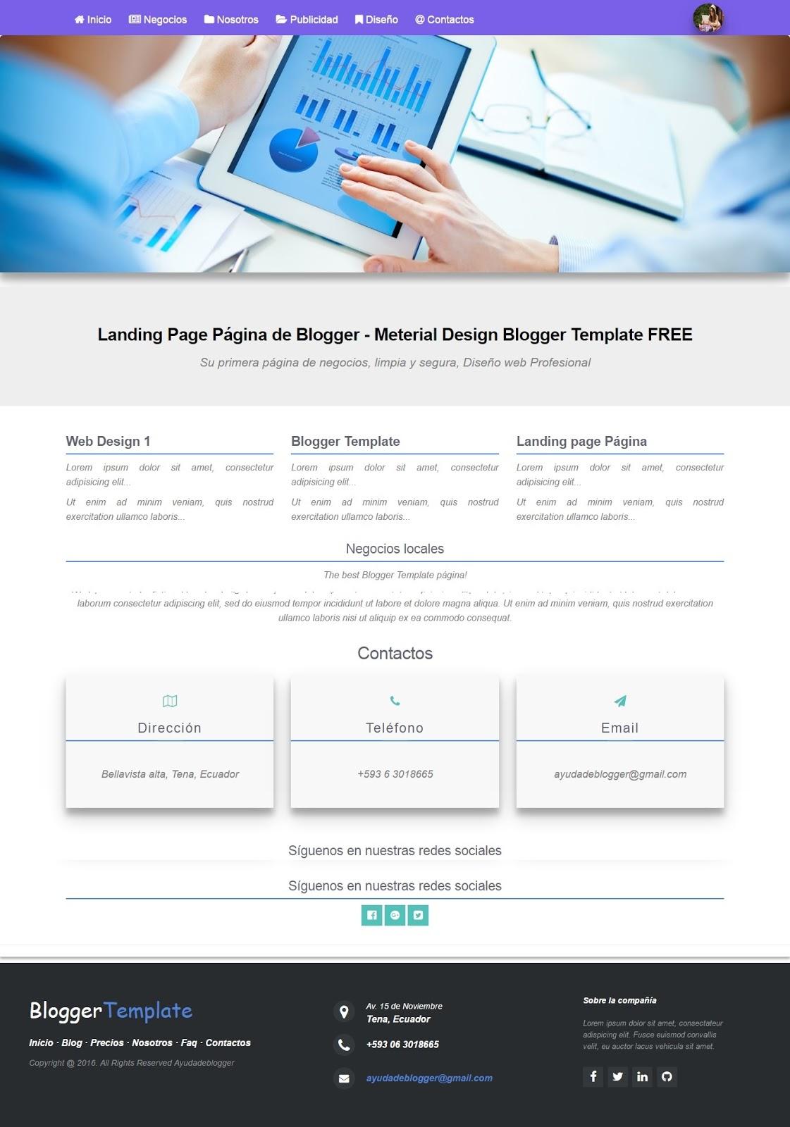 ¿Cómo crear una Landing page en una página de Blogger?