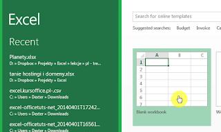 Membuka Dokument baru pada Excel