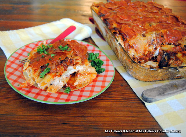 Pizza Casserole at Miz Helen's Country Cottage