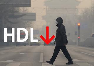 Η ατμοσφαιρική ρύπανση μειώνει την καλή χοληστερόλη