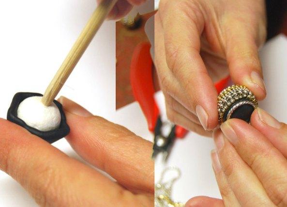 Como hacer borlas huecas de abalorios con arcilla
