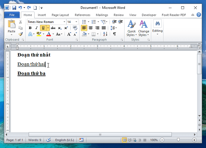 Cách hợp nhất định dạng văn bản vừa dán với văn bản trong Word