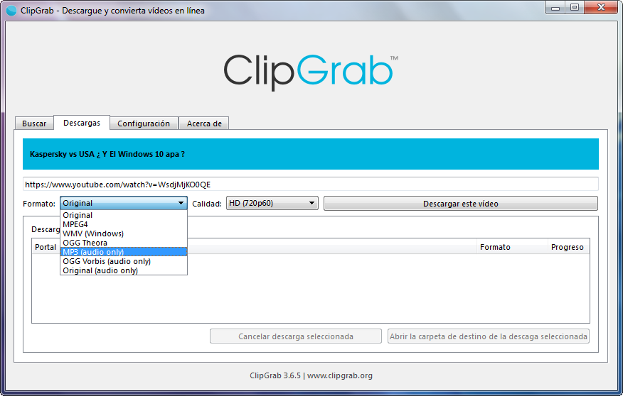 Convierte y descarga vídeos de YouTube a MP3 con ClipGrab - El Blog de HiiARA