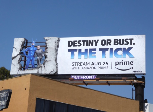 The Tick special installation billboard