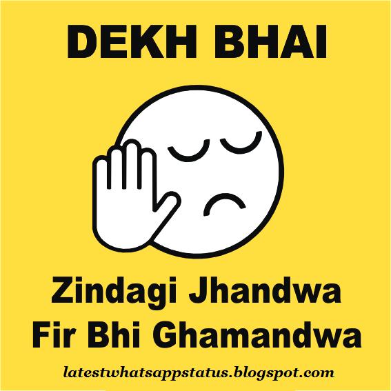 dekh bhai zindagi jhandwa images and quotes - Whatsapp Status Quotes