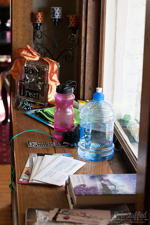 How to deal with the clutter hotspots...the places that pick up clutter easily!