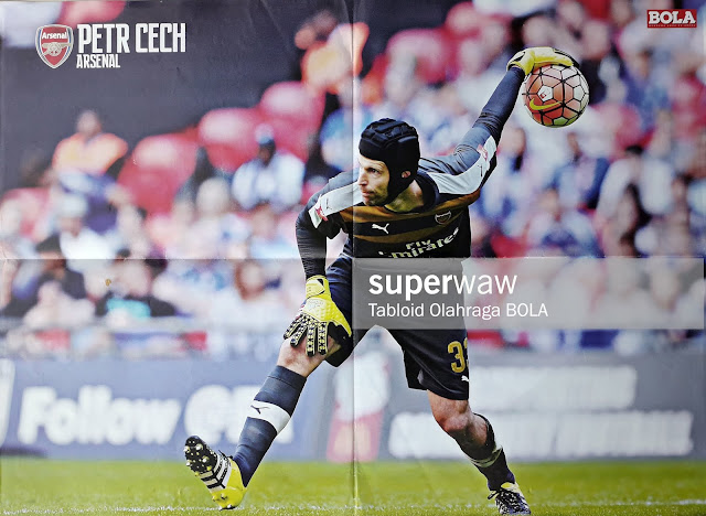 POSTER PETR CECH OF ARSENAL 2016