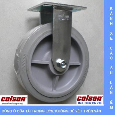 Bánh xe cao su đặc Colson càng cố định phi 200 chịu lực | 4-8198-459 www.banhxedayhang.net