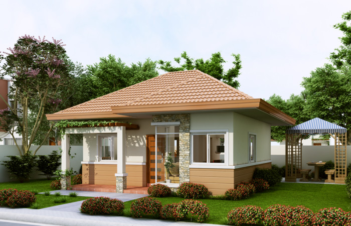 Single Story Small Home Blueprints And Floor Plans For 90 Square Meters Below Floor Area