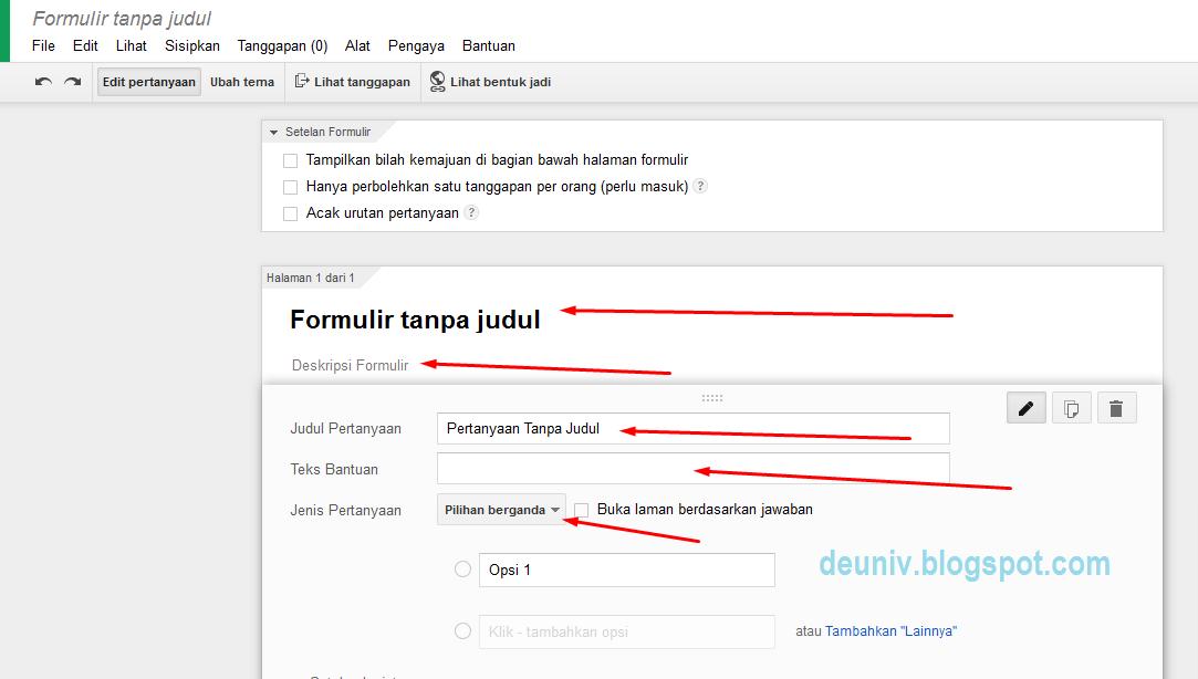 membuat google form baru