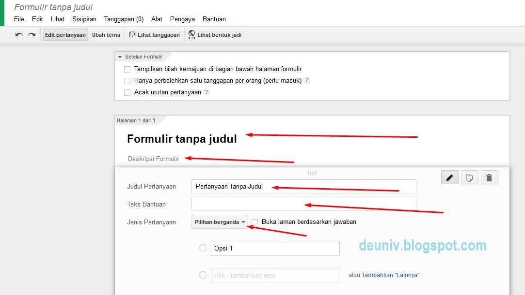 google form untuk kuesioner online