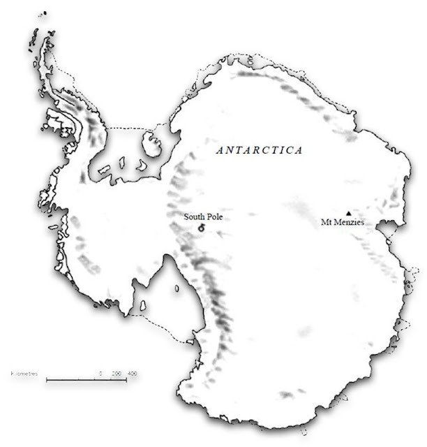 Gambar Peta Antartika hitam putih