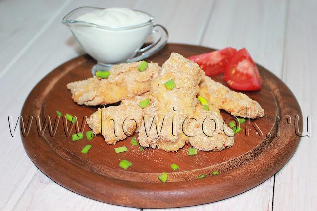 рецепт рыбных палочек в духовке