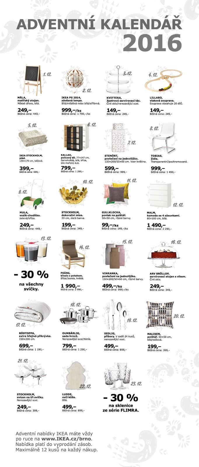 adventni kalendar ikea IKEA adventní kalendář Brno | Wanillka adventni kalendar ikea