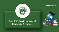 Goa PSC Junior Environmental Engineer Syllabus