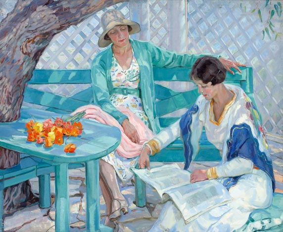 November inspiration is by Hilda Rix Nicholas called The Summer House.