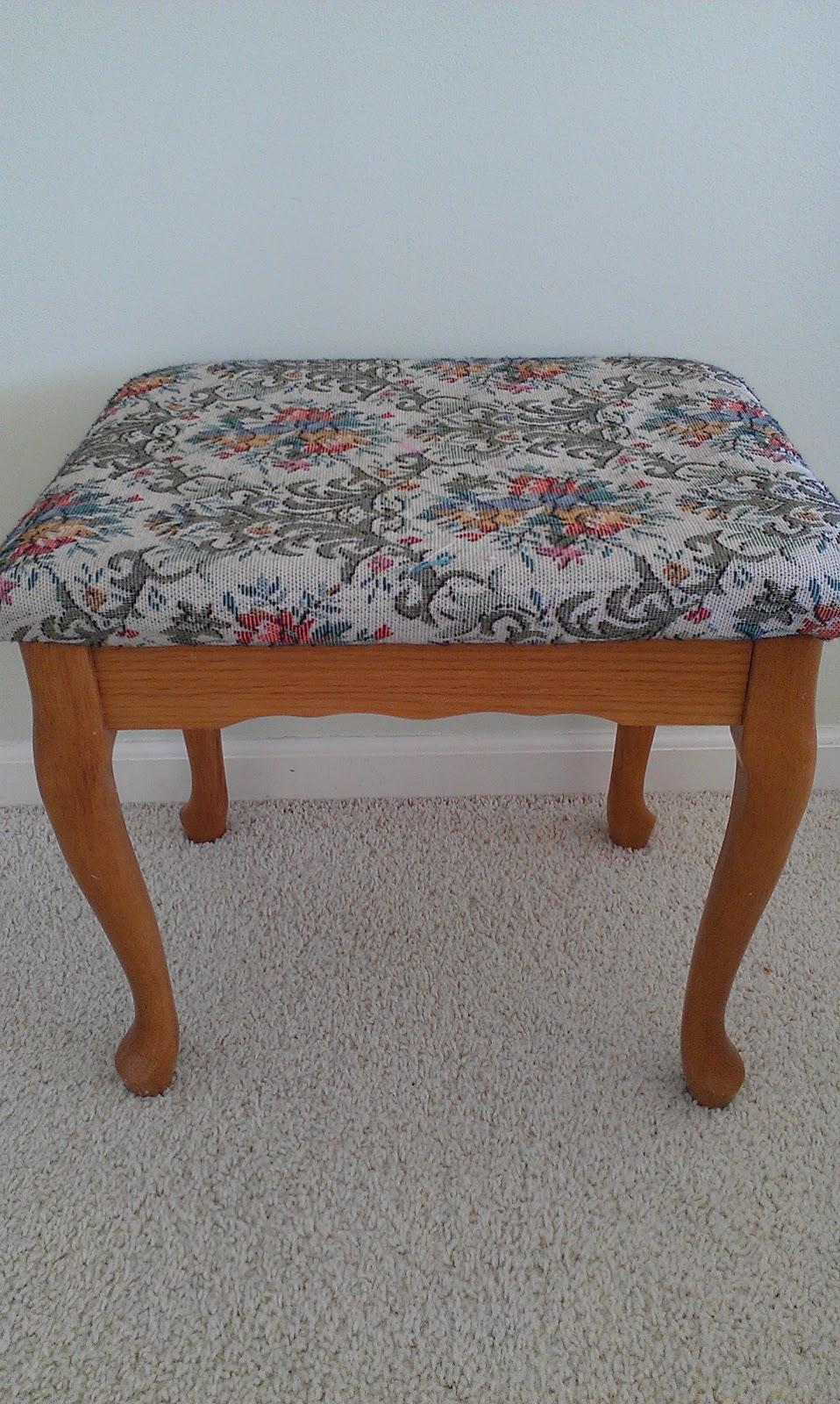 Brilliant Thrifty Treasures Chevron Vanity Bench Ibusinesslaw Wood Chair Design Ideas Ibusinesslaworg