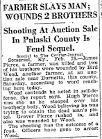 The Sound of Shaking Paper: 1900 TO 1922 murder leads