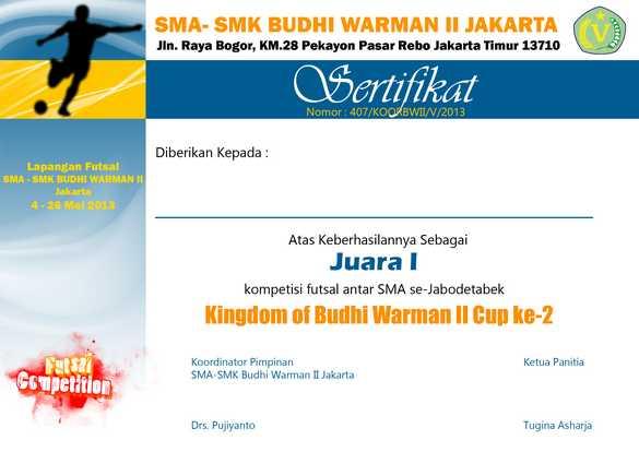 Desain sertifikat futsal - yogiadiwebid