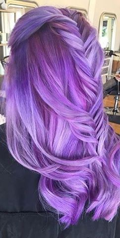 purple ombre idea