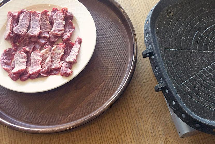 grillpfanne, rindfleisch