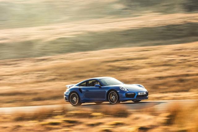2016 Porsche 911 Turbo S blue