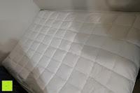 Muster: MESANA Premium Matratzen-Schoner | Größe: 140x200 cm, Höhe: 27cm | weiß aus Soft Touch Microfaser | 100% Polyester | Matratzen-Auflage auch für Ihr Boxspring-Bett und Wasserbett | Unter-Bett