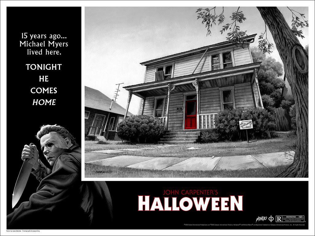 halloween movie poster framed