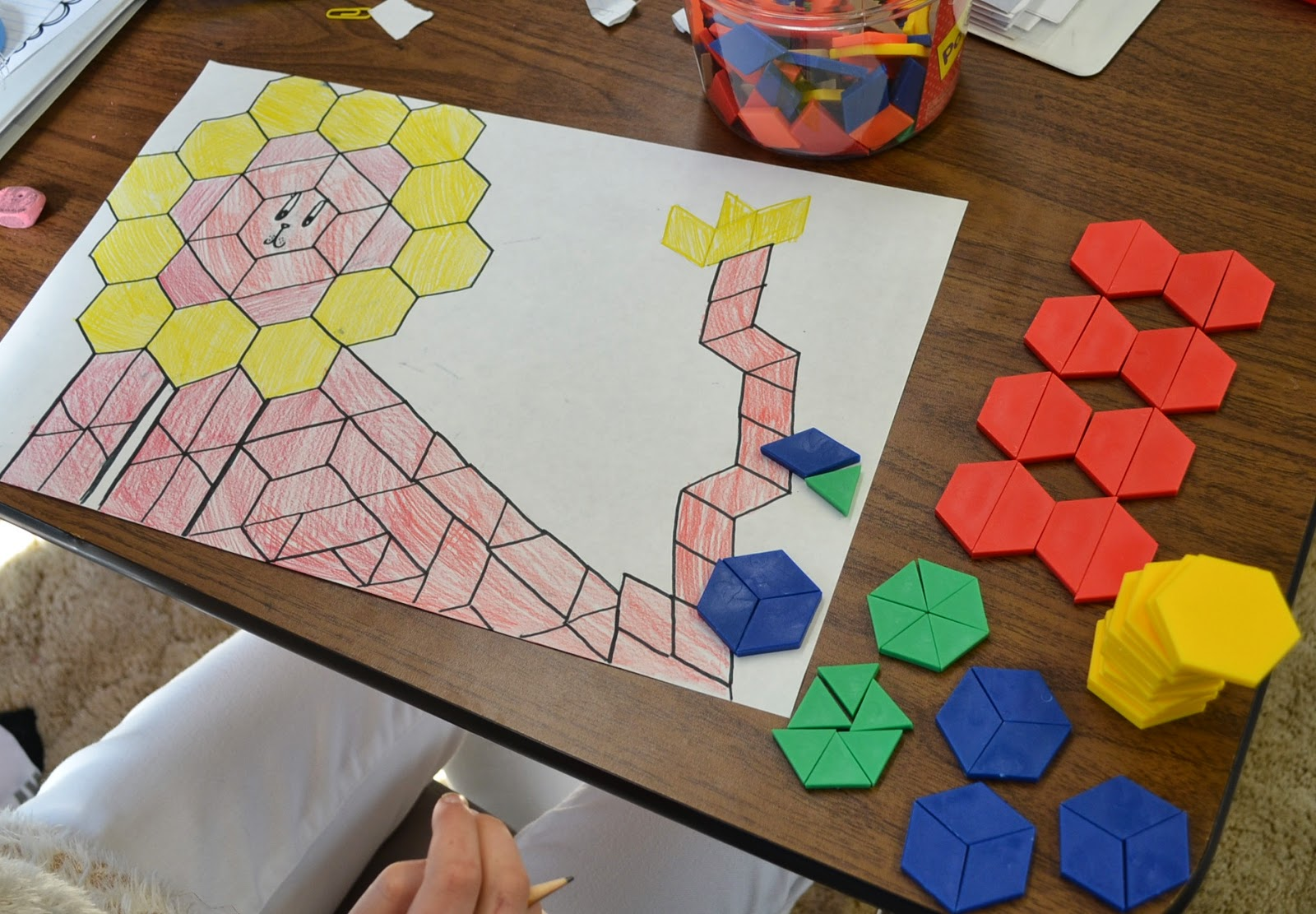 Love2learn2day Fractions Operations Review With Pattern Block Pictures