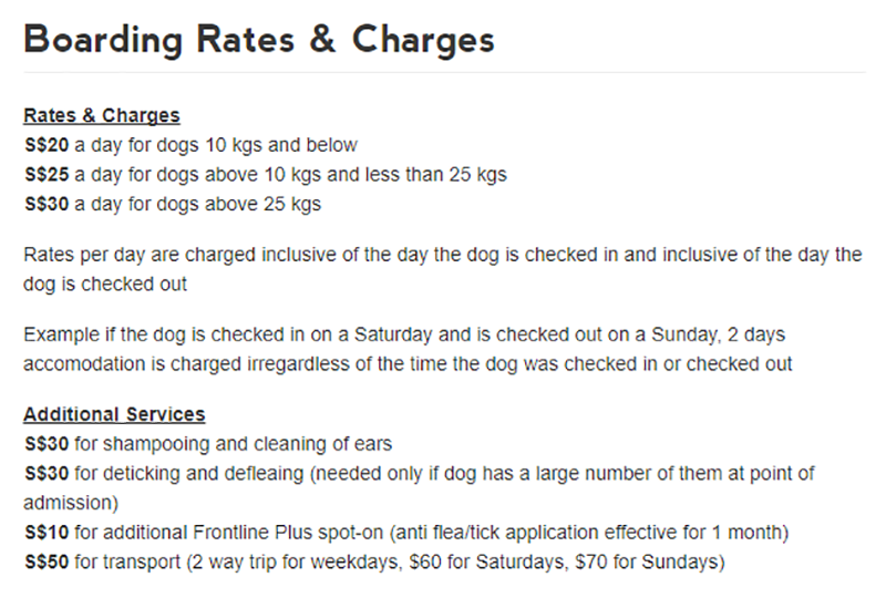 Updated Dog Boarding In Singapore The Largest List Of Dog Hotels