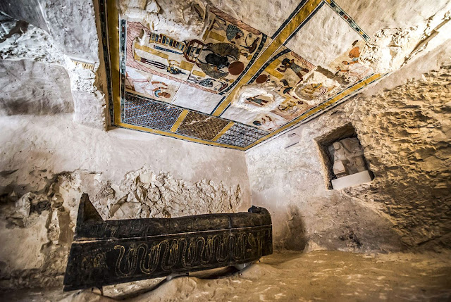 Egypt unveils ancient tomb and sarcophagi in Luxor