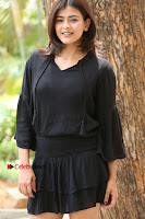 Actress Hebah Patel Stills in Black Mini Dress at Angel Movie Teaser Launch  0098.JPG
