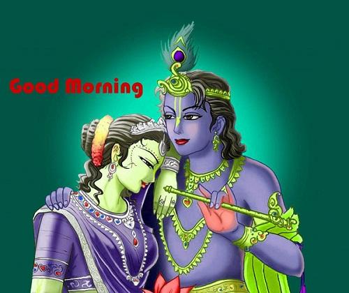 Good Morning Radha Krishna Photo