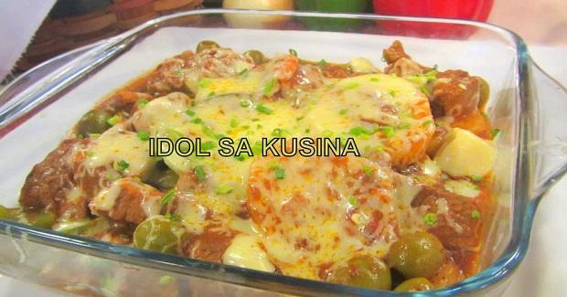 Baked Cheesy Calderata Recipe